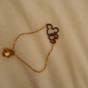 Swarovski rose gold minnie mouse bracelet